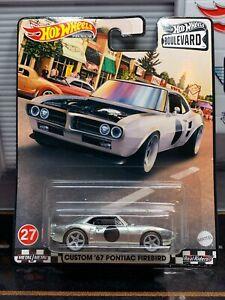 Hot Wheels Boulevard Custom 67 Pontiac Firebird Silver 2021 Real Riders Raw