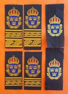 POLIS 6 Sweden Crown Hi Officer Commissioner Police Epaulette Swedish Silk Patch