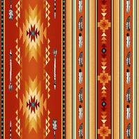 Fabric Native Spirit Arrows Feathers Stripe Terracotta Cotton Elizabeth 1/4 yard
