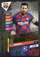 Topps Match Attax 101 Saison 2019/2020 - Messi GOLD LE2G Limited Edition