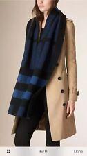 NWT Burberry Colour Block Mega Check Blanket Scarf 30cm x 200cm