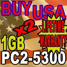 2GB KIT LOT 1GB X 2 DDR-2 DDR2 PC5300 PC2-5300 667 MHz DESKTOP MEMORY RAM