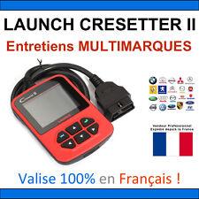 Launch CRESETTER II Diagnostic + Remise à Zéro Entretiens / Vidange / Plaquettes