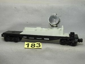 CLEAN LIONEL O GAUGE #16608 LEHIGH VALLEY SEARCH LIGHT CAR, EXCELLENT READY TO