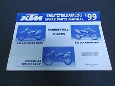 1999 KTM 400 640 Chassis Spare Parts Manual Book Supermoto Competition