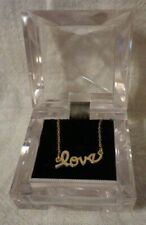 """Love 18""""  Necklace .925 Sterling Silver Both Marked"""