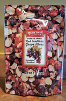 Trader Joe's Freeze Dried Red Seedless Grape Slices NEW Fresh Bag Limited Editn