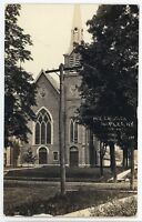 RPPC ME Church in NAPLES NY Finger Lakes Ontario County Real Photo Postcard