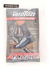 VeloToze Tall Shoe Covers LARGE EU 43-45.5 Black Cycling Water Proof Aerodynamic