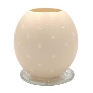 Straußenei Teelicht Sterne überall + Glasuntersetzer Straußeneilicht Kerze Lampe