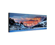 120x40cm Monte Civetta Panorama Dolomiten Italien Berge Bild Leinwand Sinus Art