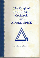*HOUSTON TX 1983 THE ORIGINAL DELPHIAN COOK BOOK WITH ADDED SPICE *TEXAS RECIPES
