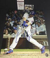 Ian Happ Chicago Cubs Autographed Signed 16x20 Photo JSA WITNESS COA