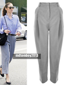 BNWT Topshop by Boutique Pleated Grey Trousers UK 6 £85 Celebrity Blogger