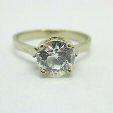 14kt. White Gold CZ Ring