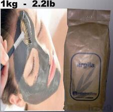 Organic French Clay Powder Face Mask, Acne skin Treatment & hair, 2.2lb - 1kg