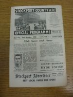 26/10/1946 Stockport County v Chester [Division 3 North] . Any faults with this