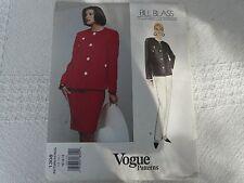 Vogue American Designer 1308 Bill Blass skirt pants Sewing Pattern size 12-14-16
