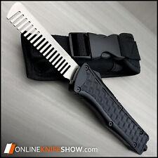 TAC FORCE OTF Black Beard COMB Shaving Hair Style   EDC Pocket Carry   EDC Tool