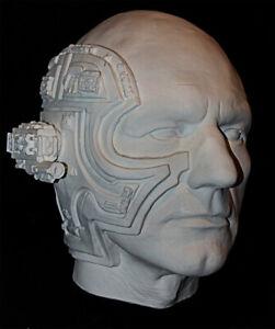 Patrick Stewart as Locutus of Borg Life Mask Star Trek Picard Haunted Studios