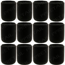 12 x ANTI SCRATCH FLOOR PROTECTOR Black Rubber Chair/Table Feet/Leg Caps 16mm