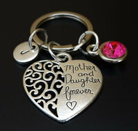 Mother Daughter Keychain, Mother Daughter Jewelry, Daughter Mother, PERSONALIZED