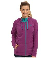 New Womens North Face Fleece Mezzaluna Hoodie Jacket Purple Small
