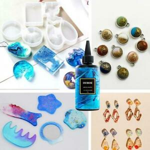 200g UV Resin Hard Acrylic Ultraviolet Clear Transparent Crafts Jewelry Molds