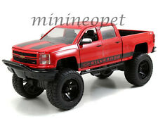 JADA 97477 OFF ROAD 2014 CHEVROLET SILVERADO PICK UP TRUCK 1/24 RED with BLACK