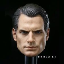 "1:6 Scale Superman Henry Cavill Head Sculpt Fit  12"" Male Action Figure Body"