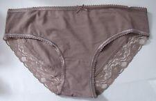 Chainstore Sze 18 Brazilian knickers panties briefs stretchy cotton rich Beige