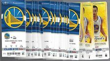 2012-13 NBA GOLDEN STATE WARRIORS FULL BASKETBALL TICKETS W/ PLAYOFFS ALL 59 TIX