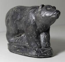 Speckstein Bär Kanada Wolf Sculpture Figure Schnitzerei Canada Original