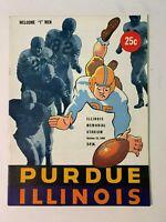 1948 Illinois Fighting Illini vs Purdue Boilermakers Football Program EXCELLENT