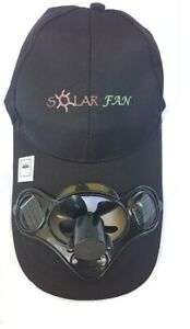 Solar Powered Fan Cap.  USA Seller FAST SHIPPING. ONE SIZE ADJUSTABLE BACK STRAP