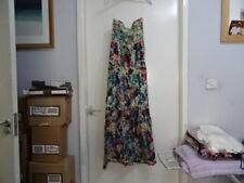 Magazine Femmes Imprimé Floral Bandeau 100% Coton Maxi Dress Sz S