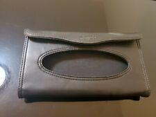 Car Tissue Holder Clip Black Leather Wallet, used