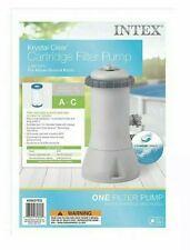 Intex Krystal Clear Cartridge Filter Pump for Above Ground Pools, 1000 GPH Pump