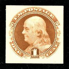 [sto079] Scott#112P4 1c Franklin Proof on Card XF MNG cv:$65