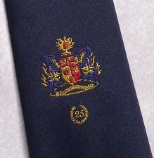 COAT OF ARMS CLUB ASSOCIATION TIE VINTAGE RETRO CREST NAVY GOLD 1990s NECKTIE