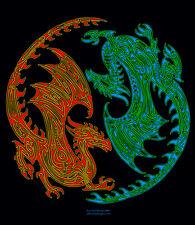 T-Shirt Yin Yang Celtic Dragons D&D RPGs Fantasy Monster OffWorld Designs