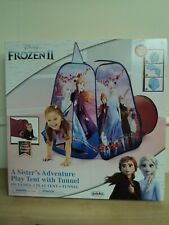 Disney Frozen 2 A Sister's Adventure  Pop-up Play Tent Playhouse with Tunnel NIB