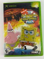 The Spongebob SquarePants Movie Microsoft Xbox Video Game No Manual Tested