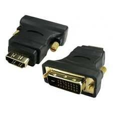 DVI-D maschio a HDMI Adattatore Convertitore Video freddo Donna contatti nero Adattatore DVI NUOVO