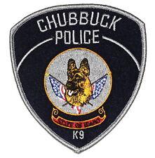 CHUBBUCK – K-9 – IDAHO ID Sheriff Police Patch CANINE DOG GERMAN SHEPHERD ~