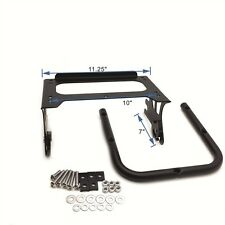 Flat Black Detachable Luggage Rack For 97-08 Harley Touring(Road King/Road Glide