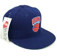 Vintage New York Knicks New Era Pro Model Fitted Hat Cap Blue Orange Deadstock