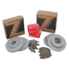Zimmermann Discos de Freno + Forros de Freno Delantero + Trasero Audi Seat VW