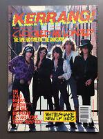 KERRANG MAGAZINE #260 October 1989 The Quireboys / Warrant / Jeff Beck / Bonham