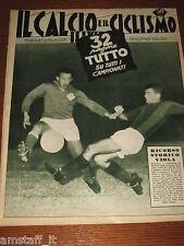 IL CALCIO E CICLISMO ILLUSTRATO 1958/38=GUIDA CAMPIONATO FOTO SQUADRE=MONTUORI=